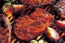 месо на скара